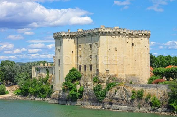 15 water Blauw kasteel rivier Europa Stockfoto © LianeM