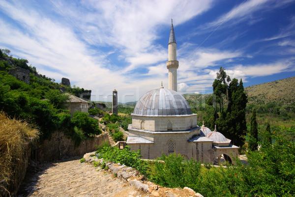 モスク 空 建物 青 城 塔 ストックフォト © LianeM