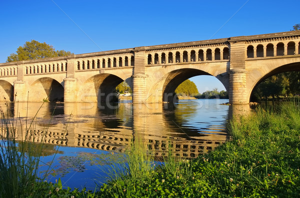 Beziers, The Orb Aqueduct Stock photo © LianeM