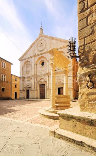 Pienza cathedral 05 Stock photo © LianeM