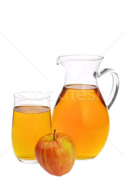 リンゴジュース ワイン 背景 ドリンク 熱帯 白 ストックフォト © LianeM