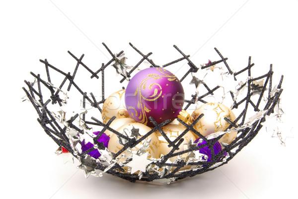 Navidad pelota tazón invierno blanco vacaciones Foto stock © LianeM