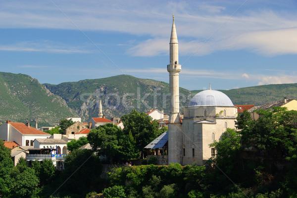 Mostar mosque 03 Stock photo © LianeM