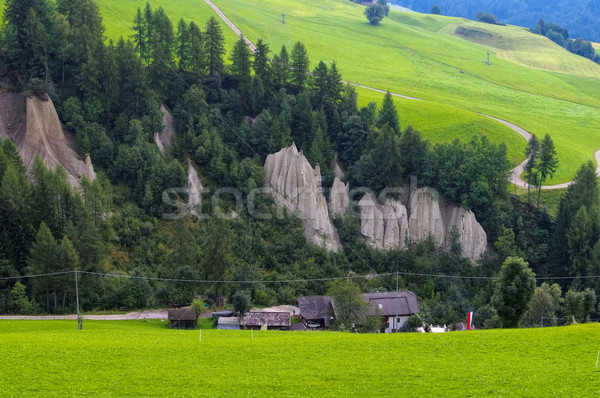 Terenten Hoodoo geologic formation Stock photo © LianeM