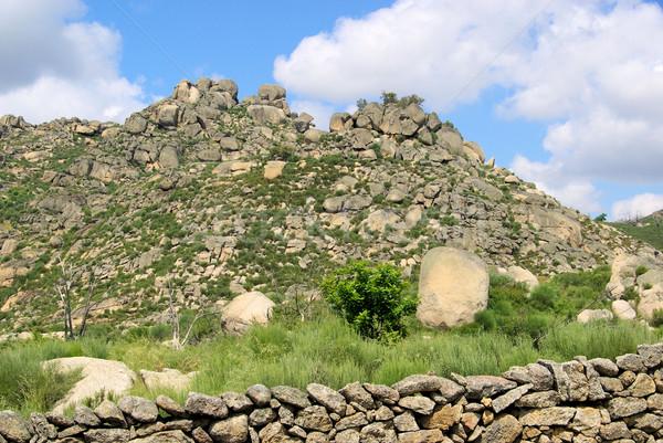 Valencia graniet rock landschap gras berg Stockfoto © LianeM