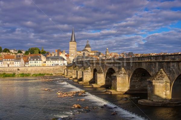 La stad rivier Stockfoto © LianeM