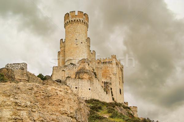 12 cielo pared piedra nube Europa Foto stock © LianeM