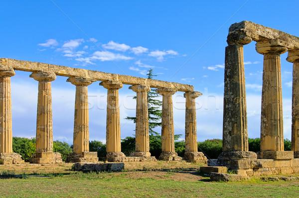 10 prairie temple grec anciens romaine Photo stock © LianeM
