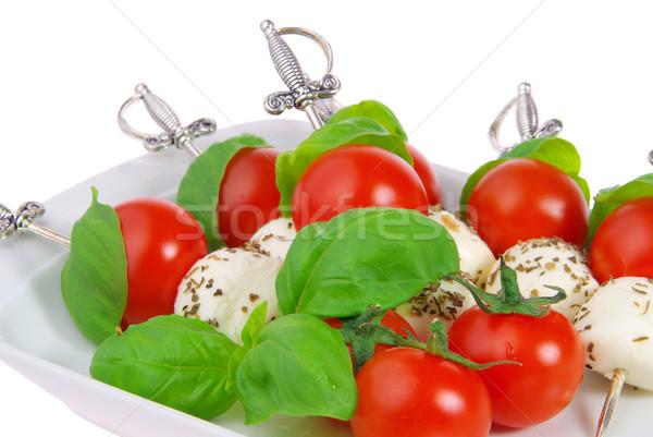 Spugen mozzarella 12 blad kaas bal Stockfoto © LianeM