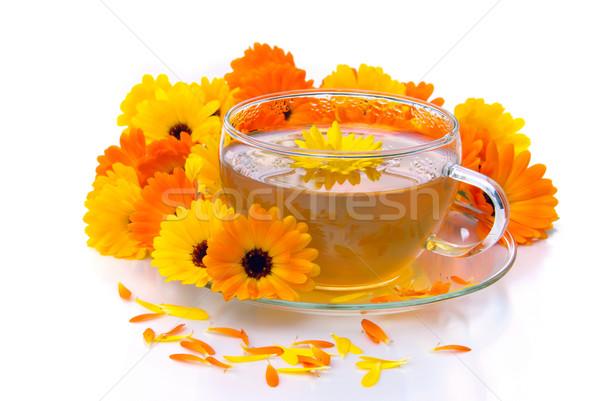 tea marigold 10 Stock photo © LianeM