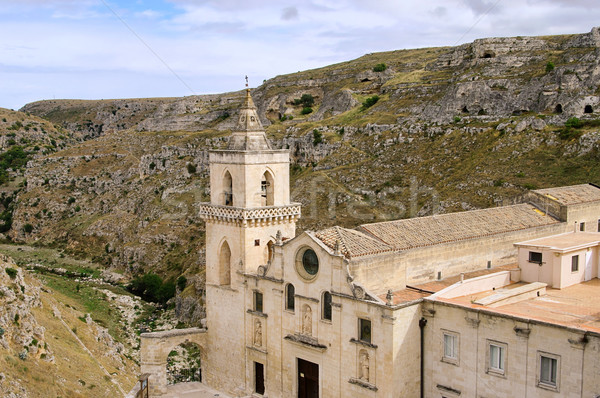 Matera church San Pietro 01 Stock photo © LianeM