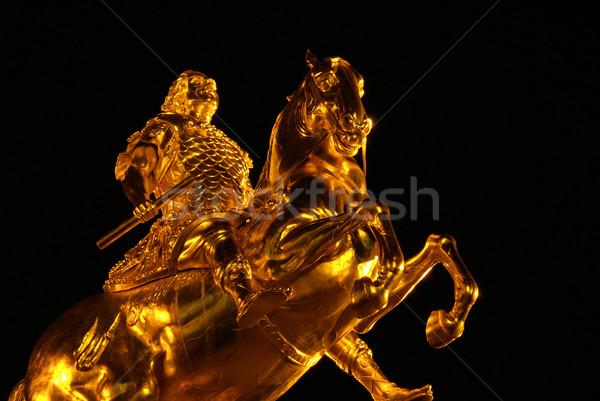Dresden Golden Knight night 12 Stock photo © LianeM