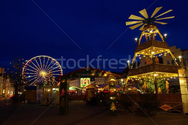 Cottbus christmas market 01 Stock photo © LianeM