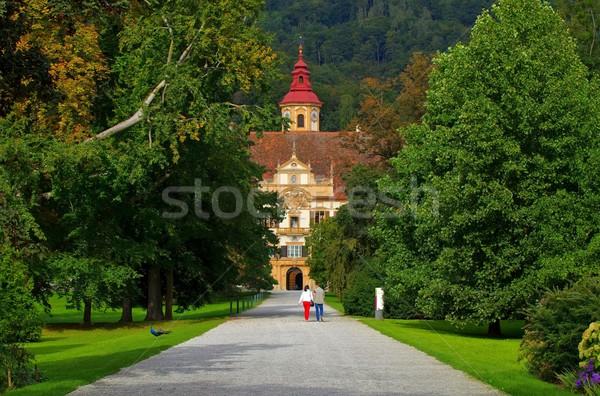 Graz palais maison arbre bâtiment château Photo stock © LianeM