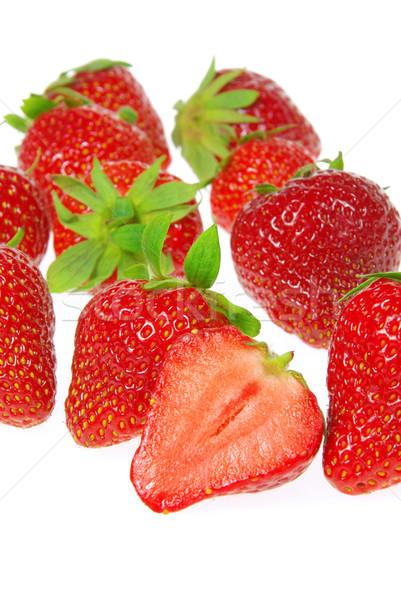 strawberry isolated 18 Stock photo © LianeM