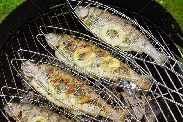 grilling trout 06 Stock photo © LianeM