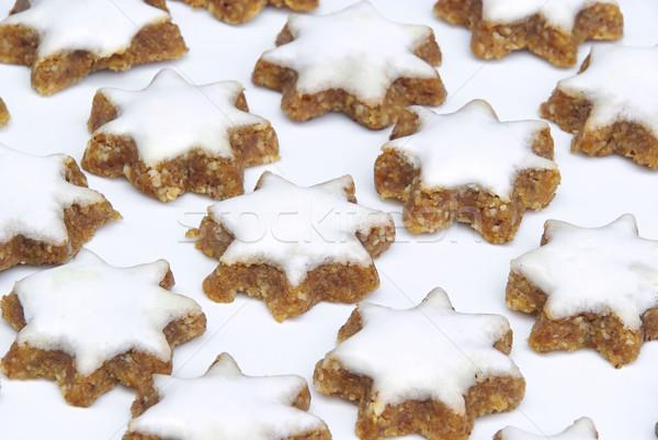 Tarçın bisküvi arka plan star beyaz Noel Stok fotoğraf © LianeM