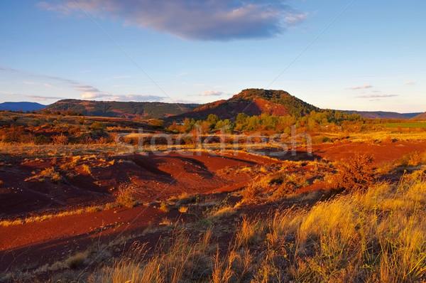 Badlands near Lac du Salagou in France Stock photo © LianeM