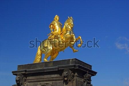Dresden Golden Knight isolated 01 Stock photo © LianeM
