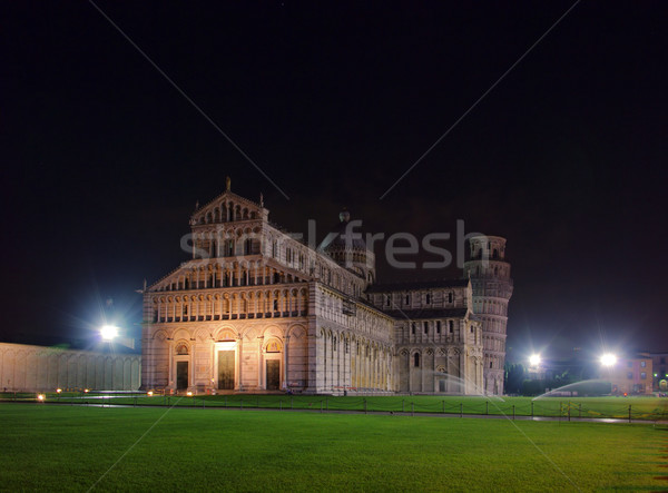 Pisa cathedral night 02 Stock photo © LianeM
