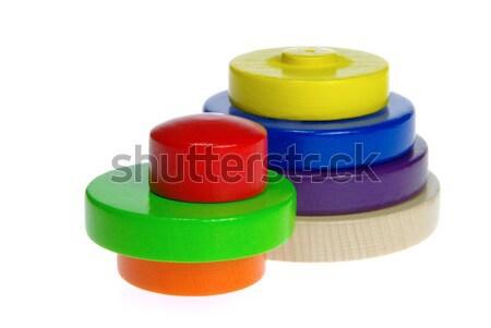 Brinquedos madeira fundo criança anel Foto stock © LianeM