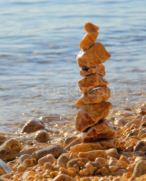 tower from pebbles 10 Stock photo © LianeM