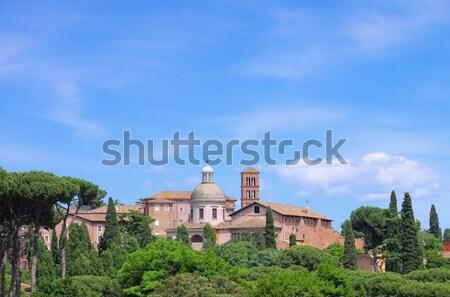 Róma fa fal templom kő tégla Stock fotó © LianeM