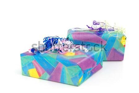 Geschenk freigestellt - gift isolated 04 Stock photo © LianeM