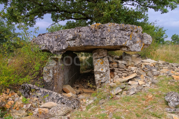 Dolmen de la Fabiere in Cevennes Stock photo © LianeM