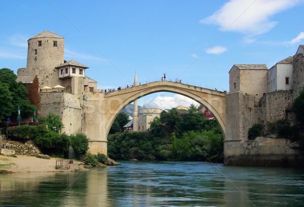 22 niebo most niebieski Europie wieża Zdjęcia stock © LianeM