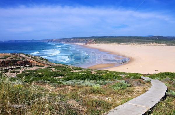 Atlantic beach Carrapateira  Stock photo © LianeM