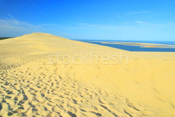 Dűne 15 tengerpart tájkép tenger nyár Stock fotó © LianeM