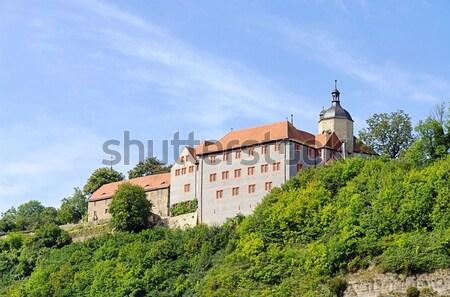 Abdij berg kerk witte Europa vallei Stockfoto © LianeM