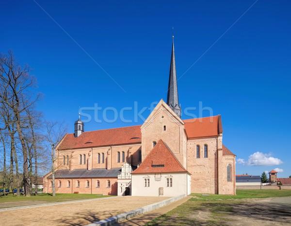 аббатство Церкви синий кирпичных Германия монастырь Сток-фото © LianeM