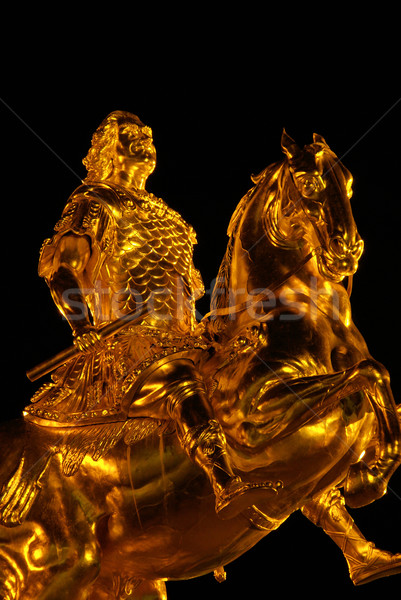 Dresden Golden Knight night 11 Stock photo © LianeM