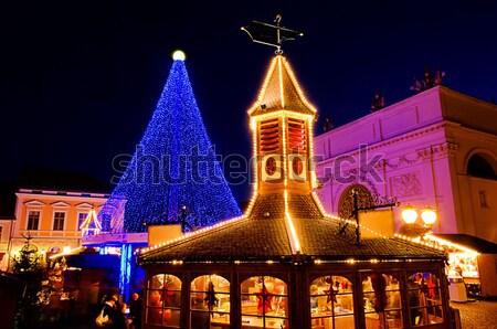 クリスマス 市場 18 建物 市 光 ストックフォト © LianeM