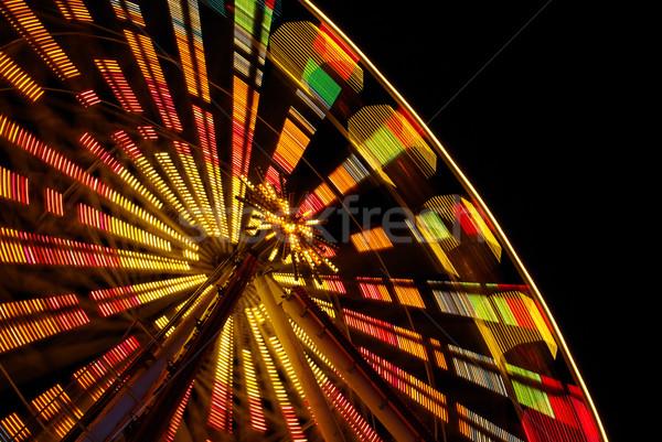 Natal mercado luz noite preto fadas Foto stock © LianeM