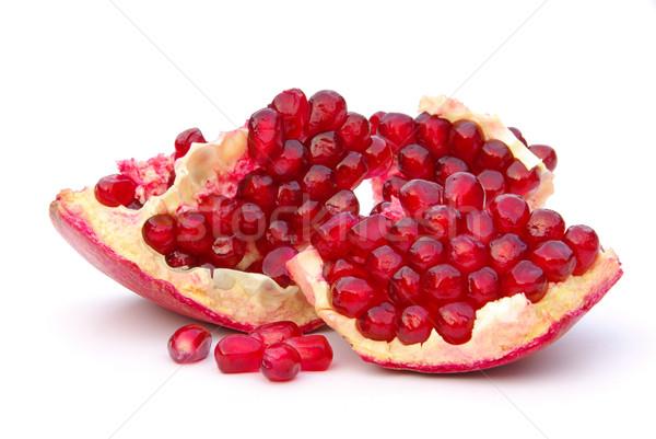 Granada aislado 12 rojo blanco jugo Foto stock © LianeM