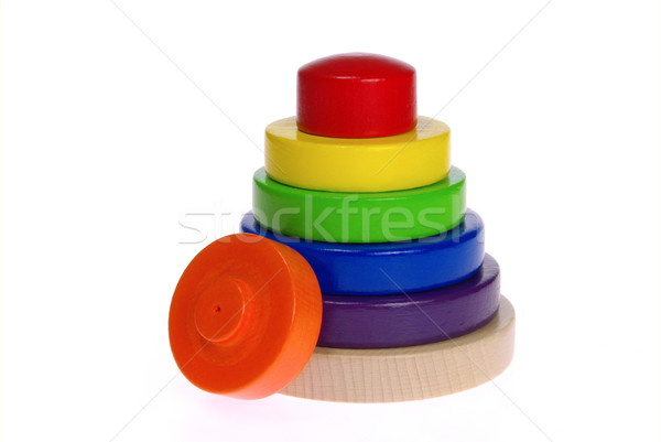Holzspielzeug - wooden toys 02 Stock photo © LianeM