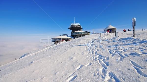 mountain Sniezka in winter Stock photo © LianeM