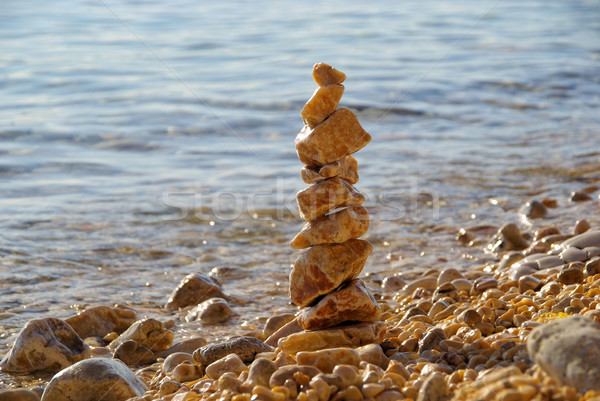 tower from pebbles 02 Stock photo © LianeM