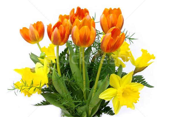 Ramo flores 17 Pascua amor hoja Foto stock © LianeM