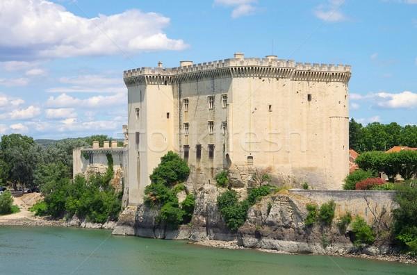 16 blu castello fiume architettura torre Foto d'archivio © LianeM