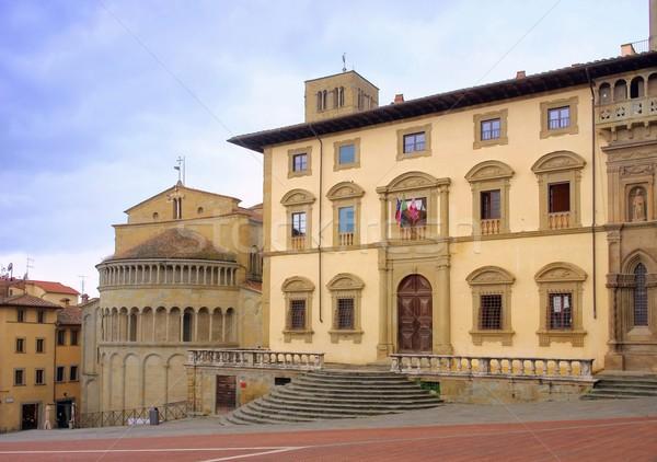 Arezzo Piazza Grande  Stock photo © LianeM
