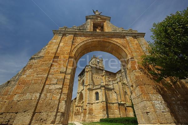 Sasamon church  Stock photo © LianeM