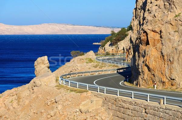 Côte route Croatie eau paysage rue Photo stock © LianeM