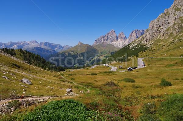 Sella pass in Dolomites Stock photo © LianeM