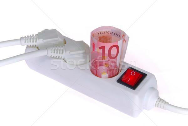 Moc działalności ceny elektrycznej pieniężnych finansowych Zdjęcia stock © LianeM