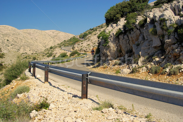 Stara Baska coast road 37 Stock photo © LianeM