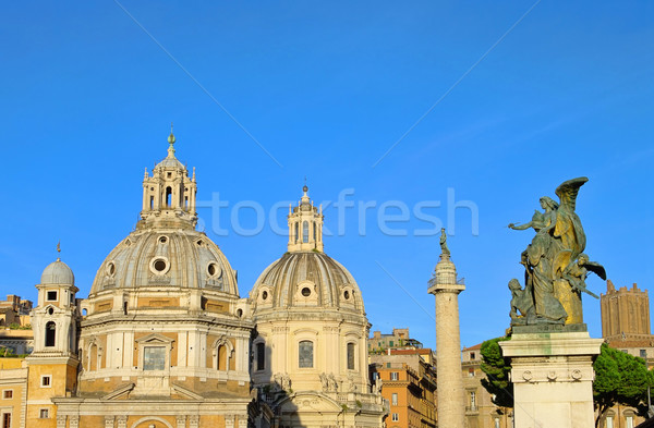 Rome churches and Trajans Column 01 Stock photo © LianeM